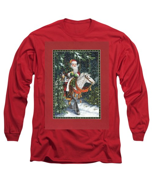 Santa Of The Northern Forest Long Sleeve T-Shirt