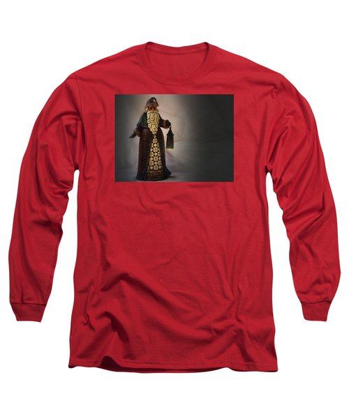 Long Sleeve T-Shirt featuring the photograph Santa With A Lantern by Nadalyn Larsen