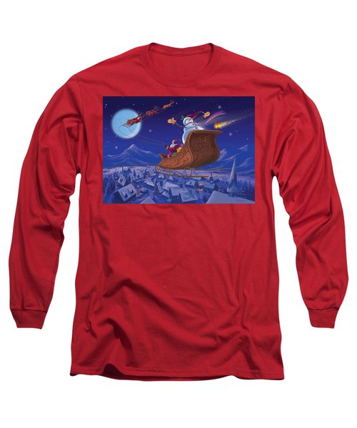 Santa's Helper Long Sleeve T-Shirt by Michael Humphries