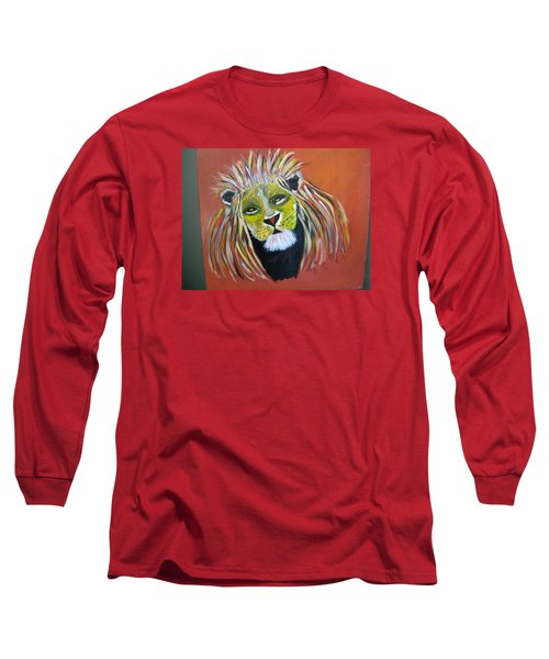 Long Sleeve T-Shirt featuring the painting Savannah Lord by Sharyn Winters