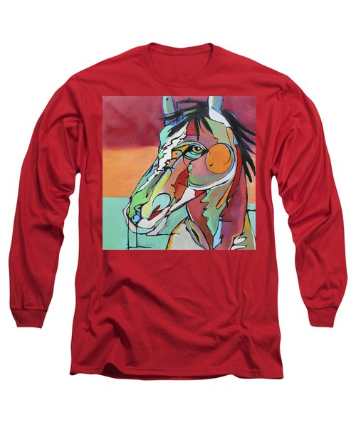 Long Sleeve T-Shirt featuring the painting Savannah  by Nicole Gaitan