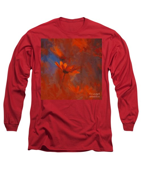 Scarlet Petals  Long Sleeve T-Shirt by Paul Davenport