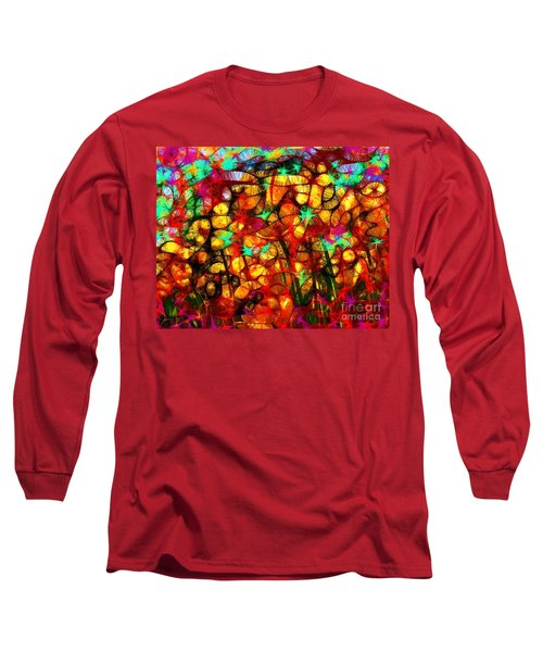 Scribble Flowers Long Sleeve T-Shirt