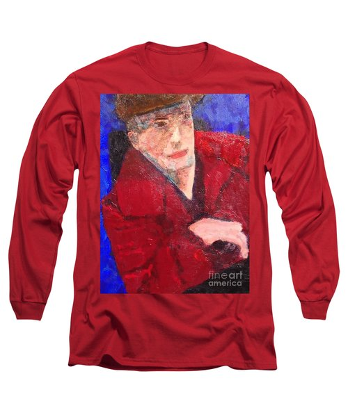 Long Sleeve T-Shirt featuring the painting Self-portrait by Donald J Ryker III