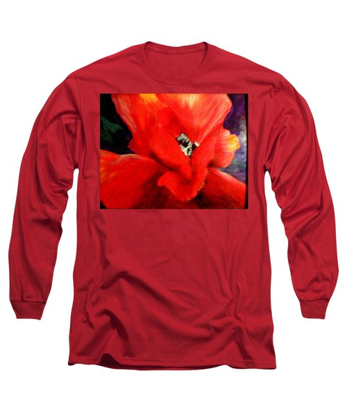 She Wore Red Ruffles Long Sleeve T-Shirt by Gail Kirtz