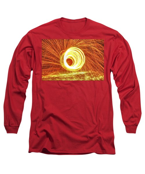 Shooting Sparks Long Sleeve T-Shirt by Dan Sproul