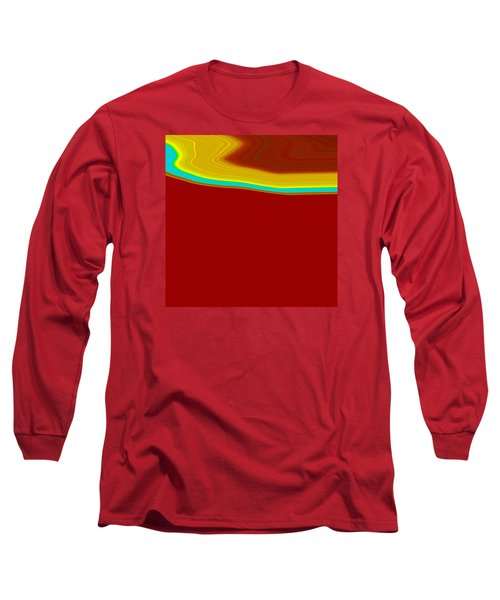 Long Sleeve T-Shirt featuring the painting Shoreline IIi  C2014 by Paul Ashby