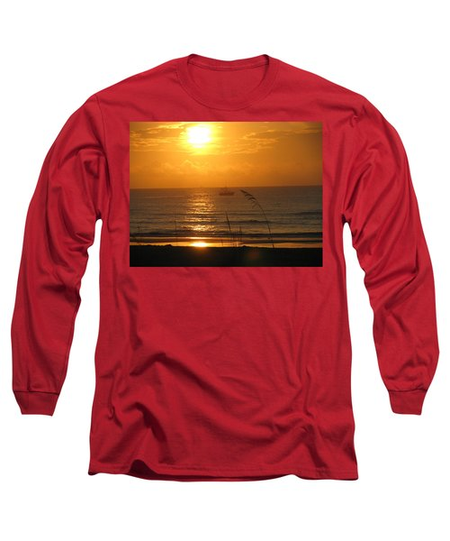 Shrimp Boat Sunrise Long Sleeve T-Shirt