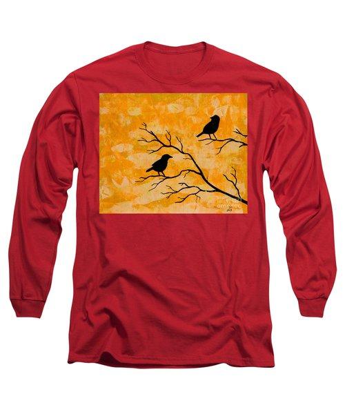 Silhouette Orange Long Sleeve T-Shirt by Stefanie Forck