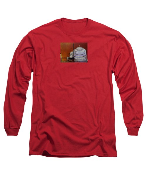 Silos With Sienna Sky Long Sleeve T-Shirt by Susan Williams