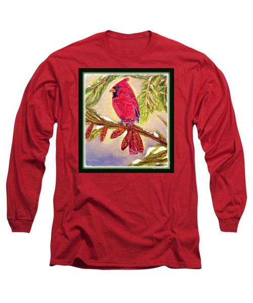 Singing The Good News With Border Long Sleeve T-Shirt by Kimberlee Baxter