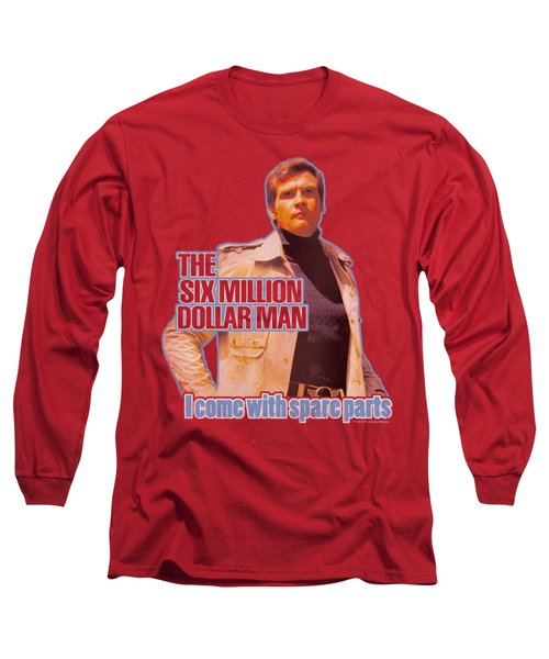 Six Million Dollar Man - Spare Parts Long Sleeve T-Shirt by Brand A