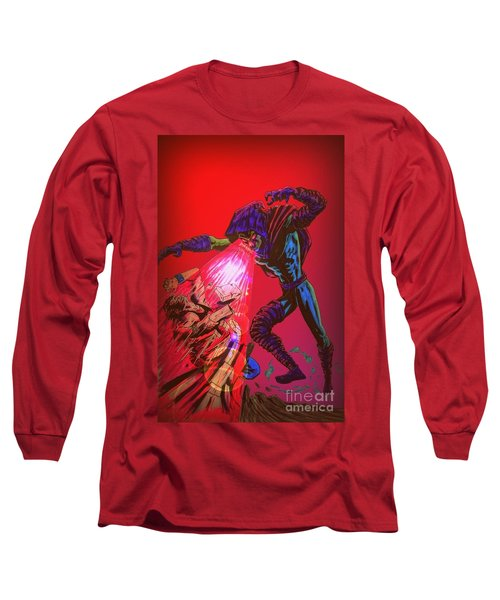 Sleepwalker 1c Long Sleeve T-Shirt by Justin Moore