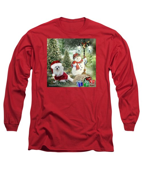 Snowdrop And The Snowman Long Sleeve T-Shirt by Morag Bates
