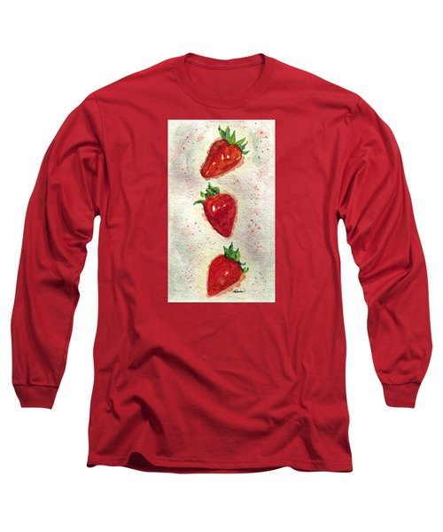 Long Sleeve T-Shirt featuring the painting So Juicy by Angela Davies