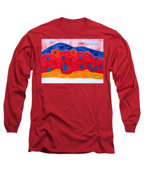 Soft Pueblo Original Painting Long Sleeve T-Shirt