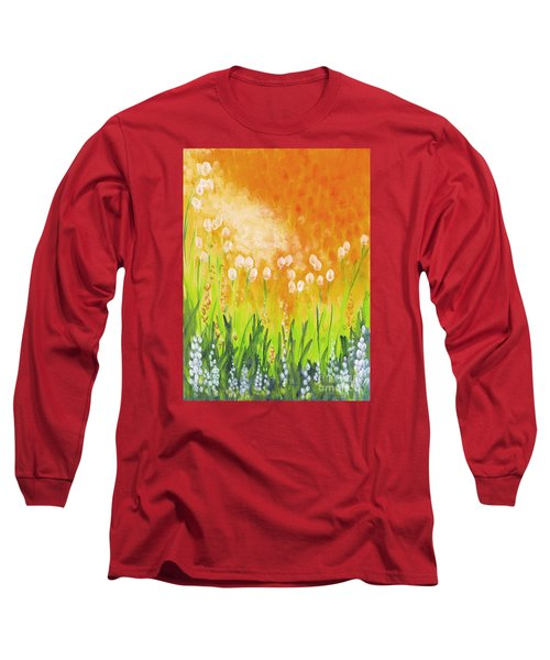 Long Sleeve T-Shirt featuring the painting Sonbreak by Holly Carmichael