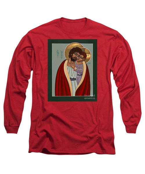 St. Joseph And The Holy Child 239 Long Sleeve T-Shirt by William Hart McNichols