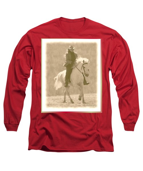 Stallion Strides Long Sleeve T-Shirt by Patricia Keller