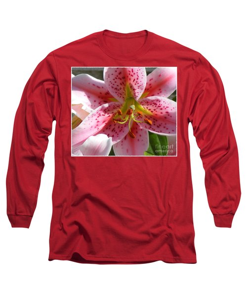 Stargazer Lily Long Sleeve T-Shirt by Barbara Griffin