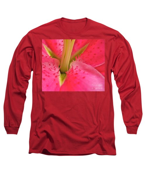 Long Sleeve T-Shirt featuring the photograph Stargazer Lily by Linda Bianic