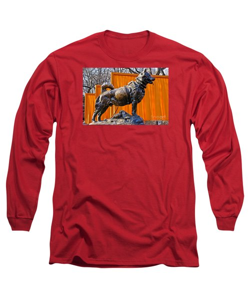 Statue Of Balto In Nyc Central Park Long Sleeve T-Shirt by Anthony Sacco