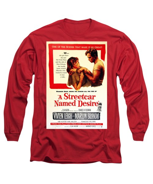 Stellaaaaa - A Streetcar Named Desire Long Sleeve T-Shirt by Debbie Oppermann