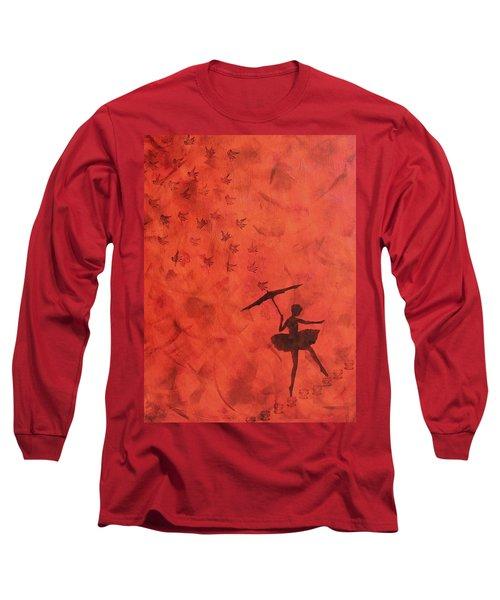 Stencil Ballerina Long Sleeve T-Shirt