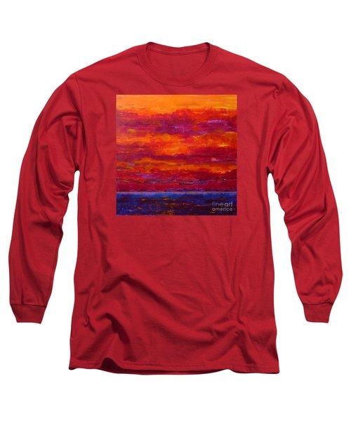 Storm Clouds Sunset Long Sleeve T-Shirt by Gail Kent