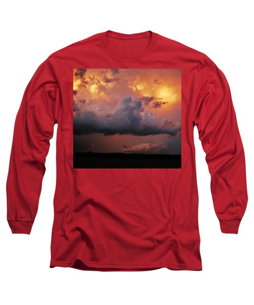 Stormy Sunset Long Sleeve T-Shirt by Ed Sweeney
