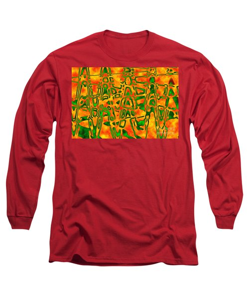 Strange Hieroglyphs Long Sleeve T-Shirt by Mark Blauhoefer