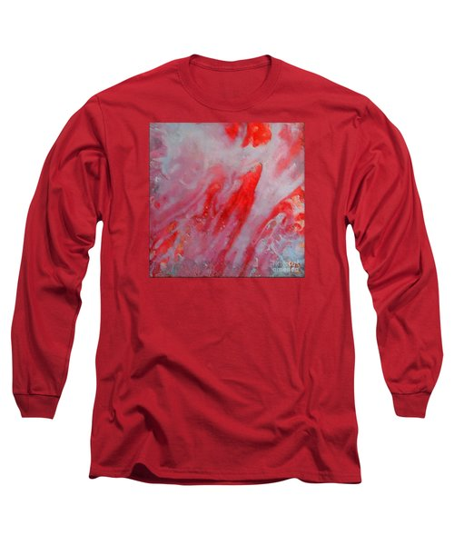 Long Sleeve T-Shirt featuring the painting Strawberry Ice Cream by Dragica  Micki Fortuna