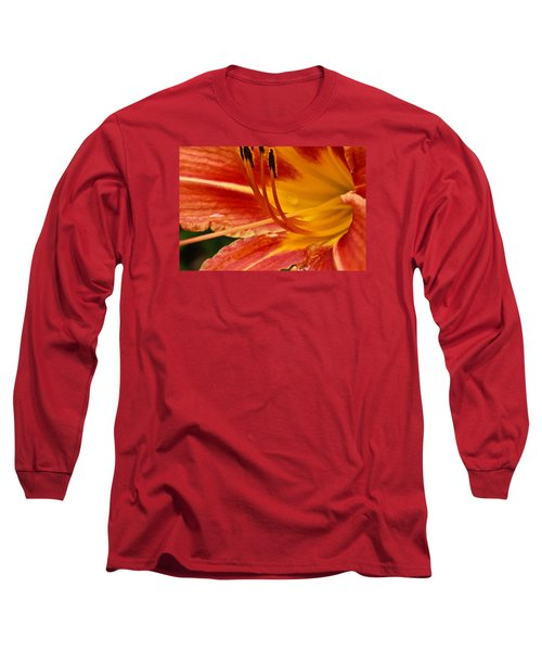 Summer Daylily Long Sleeve T-Shirt by Julie Andel
