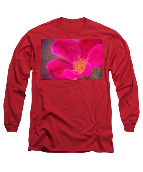 Summer Delight My Pink Rose Long Sleeve T-Shirt