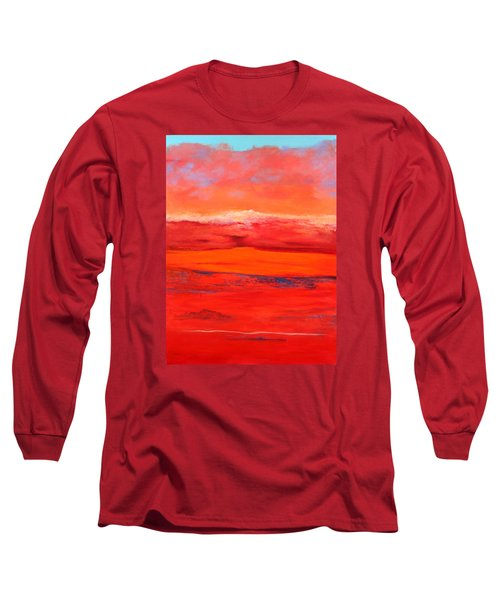 Long Sleeve T-Shirt featuring the painting Summer Heat 2 by M Diane Bonaparte