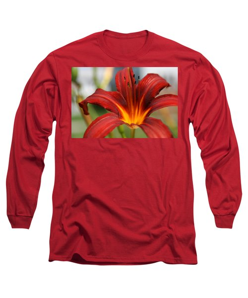 Sunburst Lily Long Sleeve T-Shirt by Neal Eslinger