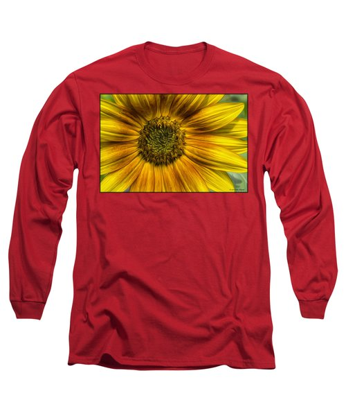 Sunflower In Oil Paint Long Sleeve T-Shirt