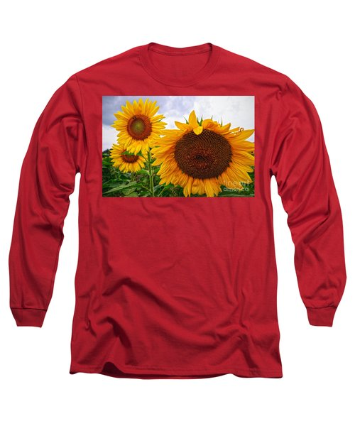 Sunflower Mama And Her Daughters  Long Sleeve T-Shirt