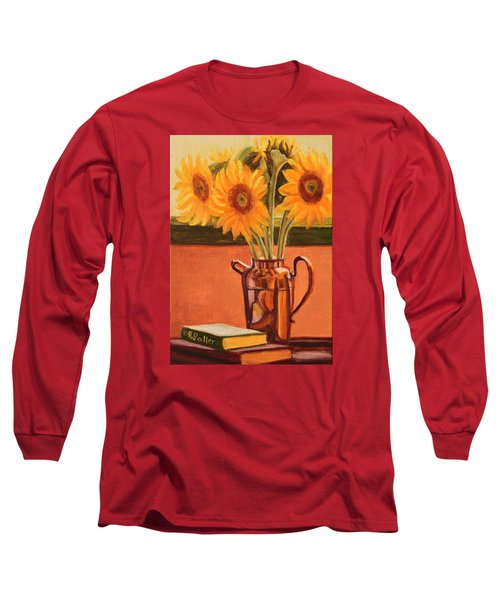 Sunflower Still Life Long Sleeve T-Shirt