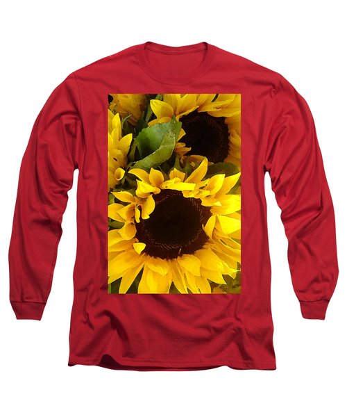 Sunflowers Tall Long Sleeve T-Shirt
