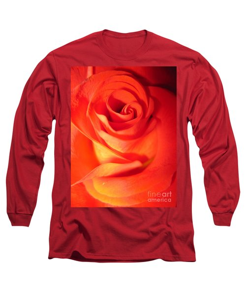 Sunkissed Orange Rose 10 Long Sleeve T-Shirt