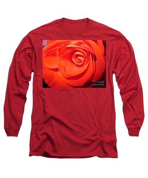 Sunkissed Orange Rose 9 Long Sleeve T-Shirt