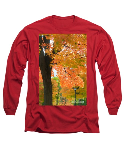 Sunny Fall Day By David Lawrence Long Sleeve T-Shirt by David Perry Lawrence