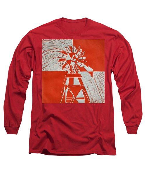 Sunny Windmill Long Sleeve T-Shirt by Verana Stark