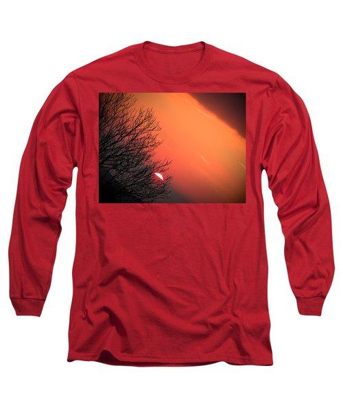 Sunrise And Hibernating Tree Long Sleeve T-Shirt