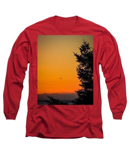 Sunrise Flight Departing Shannon Airport Long Sleeve T-Shirt