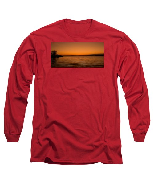 Long Sleeve T-Shirt featuring the photograph Sunrise Over The Lake Of Two Mountains - Qc by Juergen Weiss