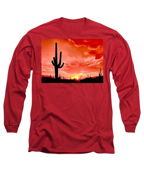Sunrise Saguaro National Park Long Sleeve T-Shirt