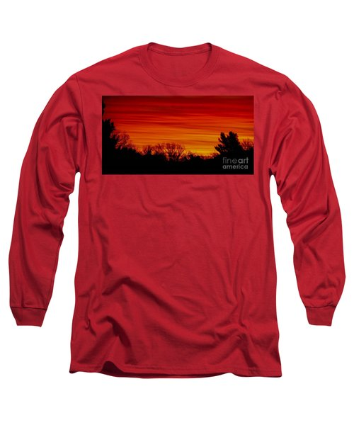 Long Sleeve T-Shirt featuring the photograph Sunrise Y-town by Angela J Wright