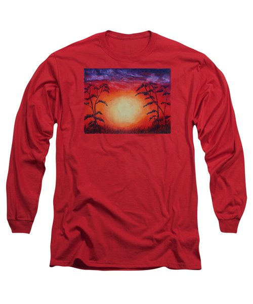 Sunset 1 Long Sleeve T-Shirt by Jeanne Fischer